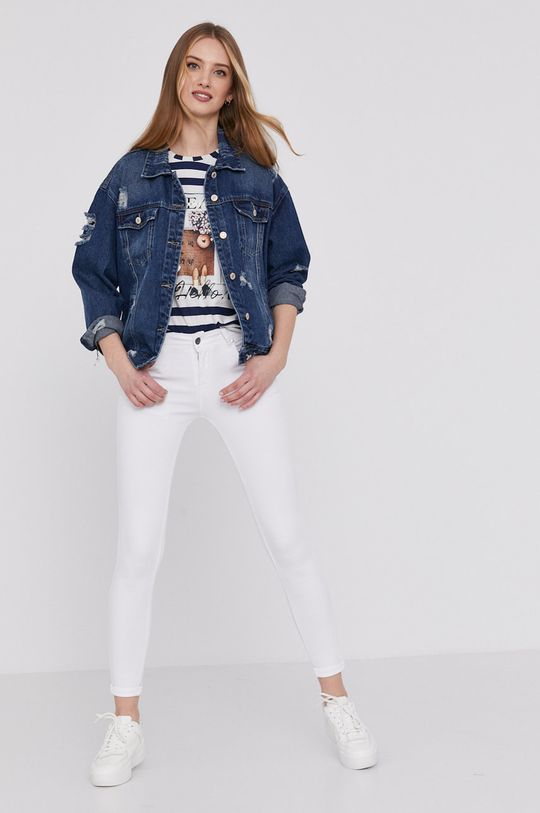 Answear Lab - Kurtka jeansowa granatowy