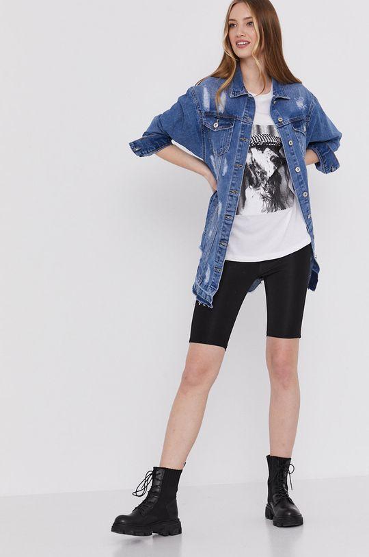 Answear Lab - Kurtka jeansowa niebieski