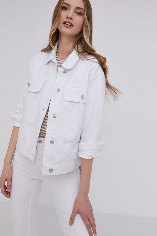 bílá Answear Lab - Džínová bunda Dámský