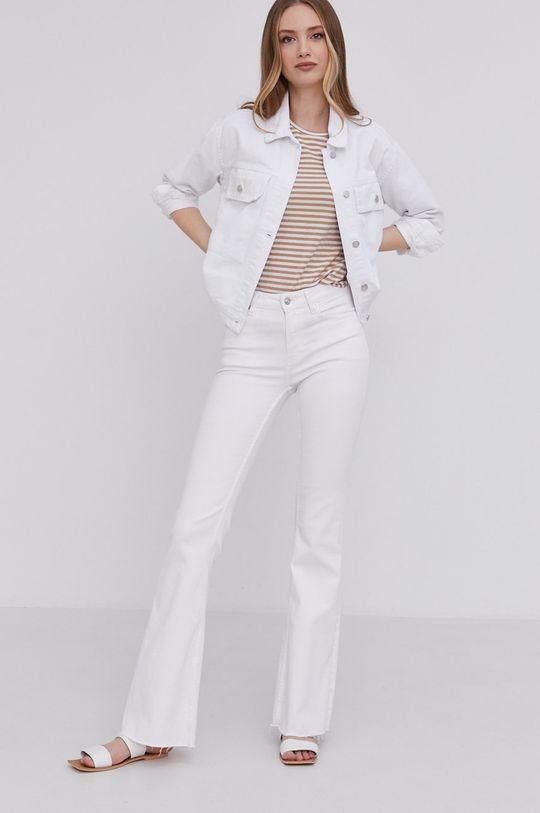 Answear Lab - Džínová bunda bílá