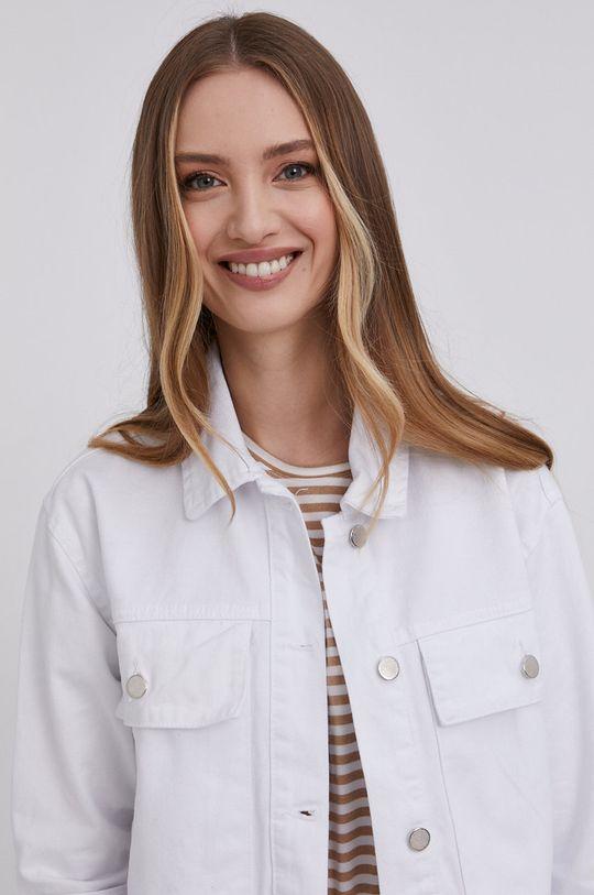 bílá Answear Lab - Džínová bunda