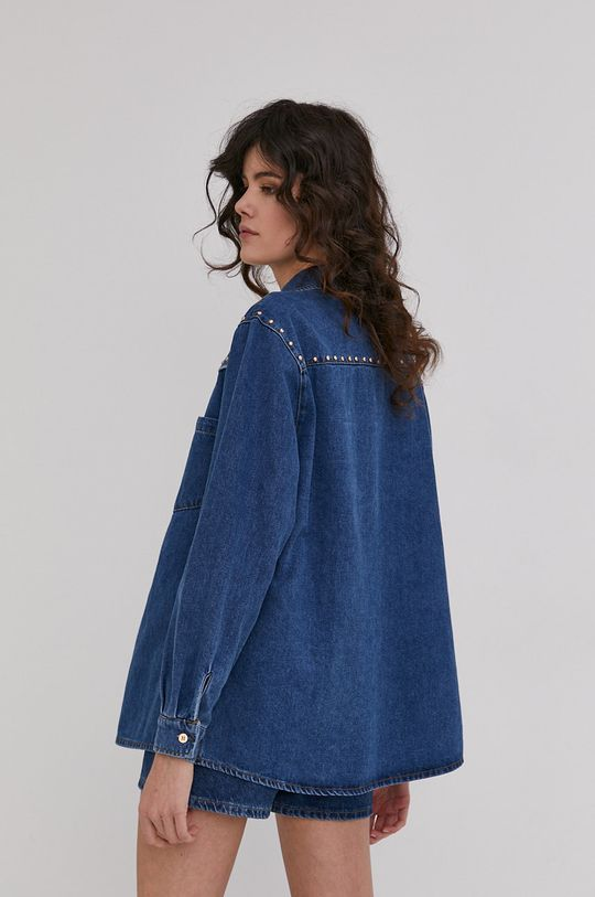 niebieski Answear Lab - Koszula jeansowa