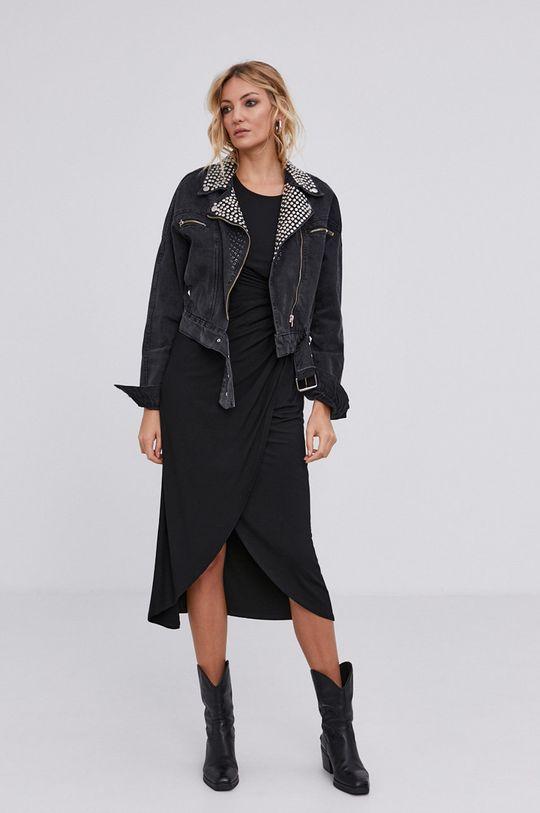 answear.LAB X Limitovaná kolekcia GIRL POWER - Rifľová bunda čierna