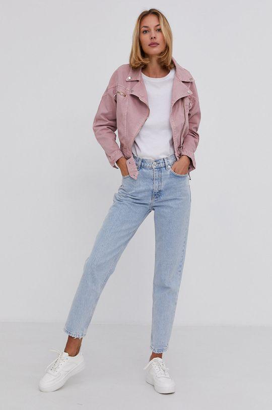 Answear Lab - Džínová bunda růžová