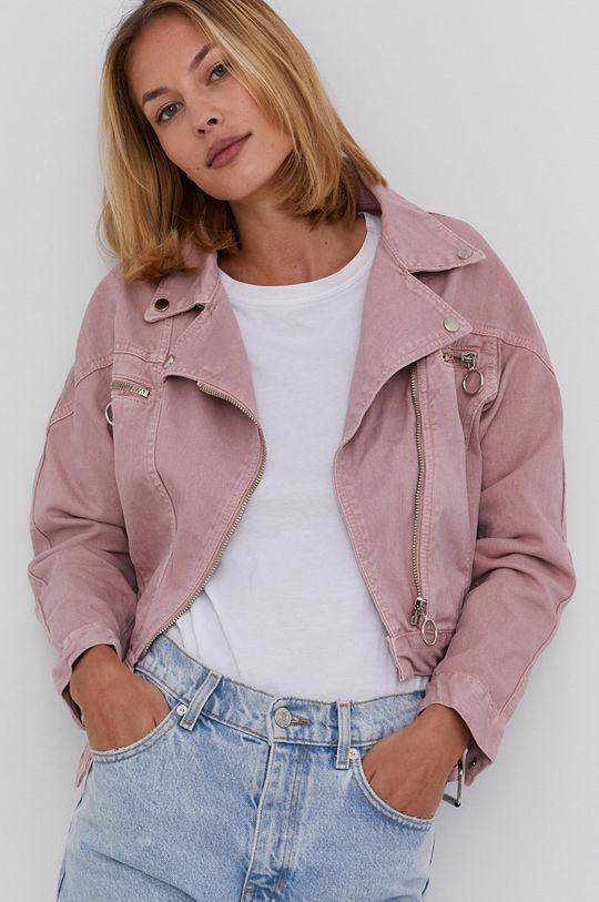 růžová Answear Lab - Džínová bunda