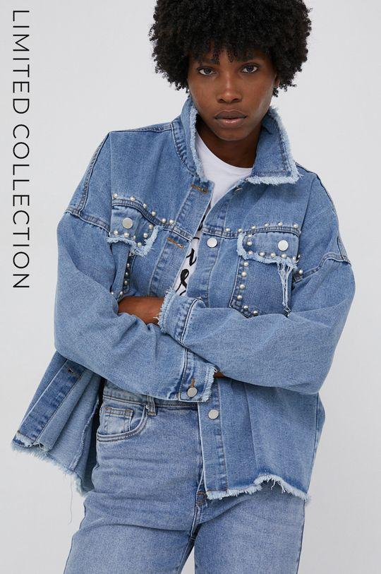 niebieski Kurtka jeansowa answear.LAB X kolekcja limitowana GIRL POWER Damski