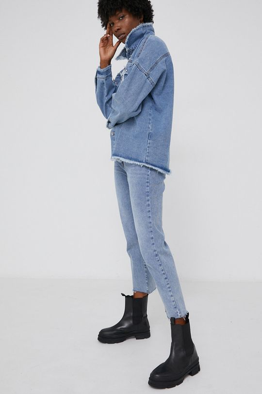 Answear Lab - Rifľová bunda modrá