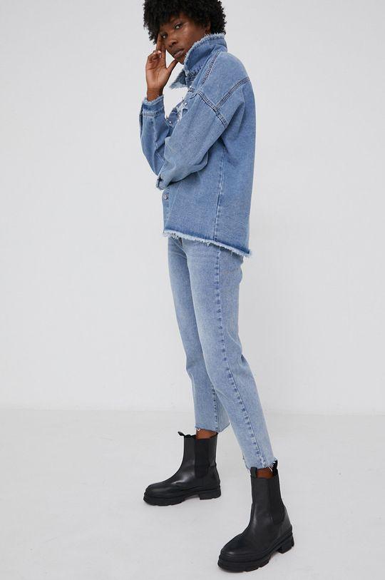Kurtka jeansowa answear.LAB X kolekcja limitowana GIRL POWER niebieski