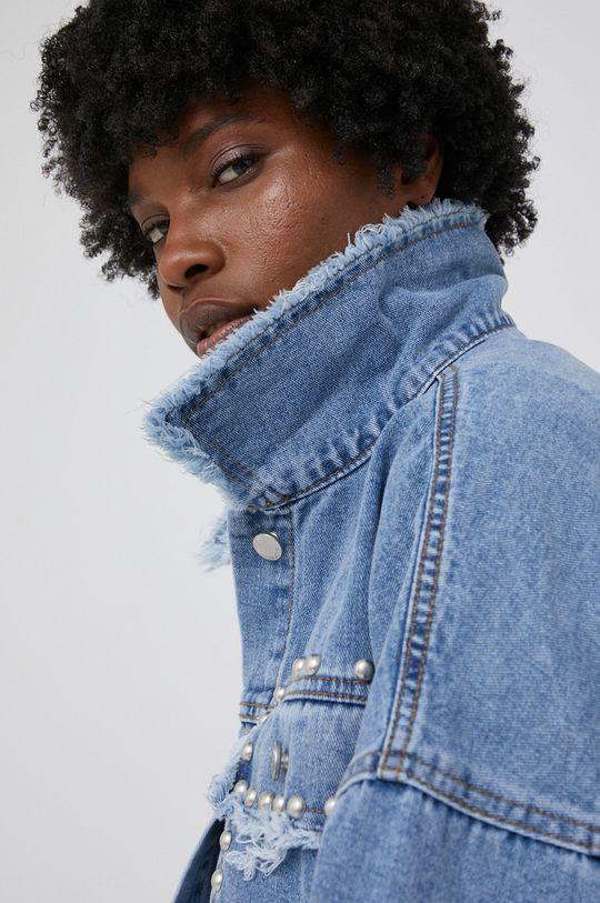 niebieski Kurtka jeansowa answear.LAB X kolekcja limitowana GIRL POWER