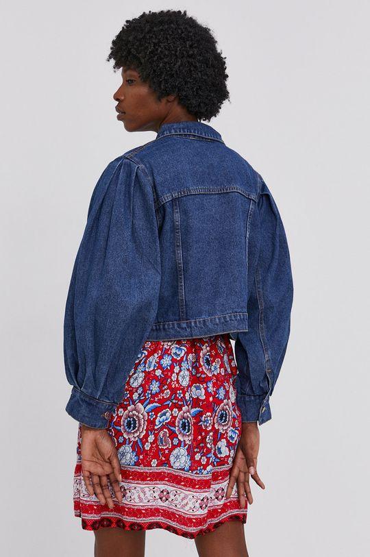 Answear Lab - Bavlněná džínová bunda  100% Bavlna