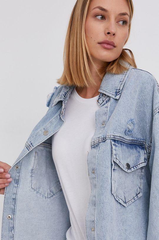 niebieski Answear Lab - Kurtka jeansowa