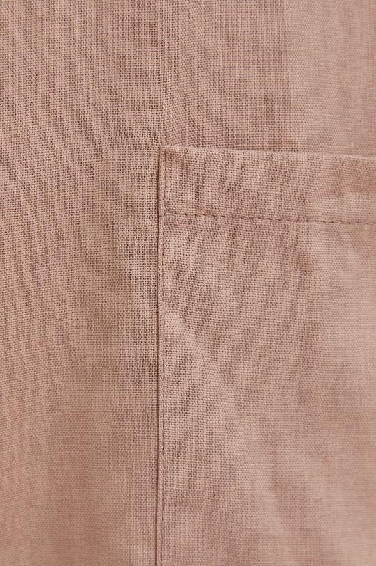 beżowy Answear Lab - Marynarka lniana Pure Linen
