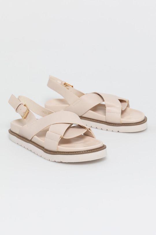 Answear Lab - Sandále Alta Moda béžová