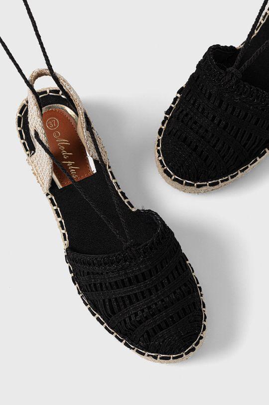 Answear Lab - Espadrilky Moda Plus čierna