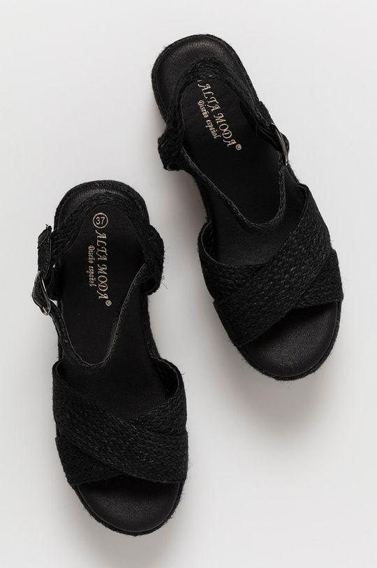 czarny Answear Lab - Sandały Alta Moda