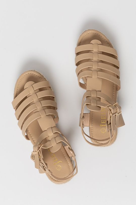 béžová Answear Lab - Sandále Jeeini