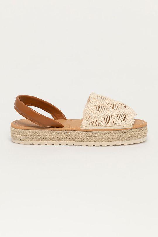 beżowy Answear Lab - Sandały Best Shoes Damski