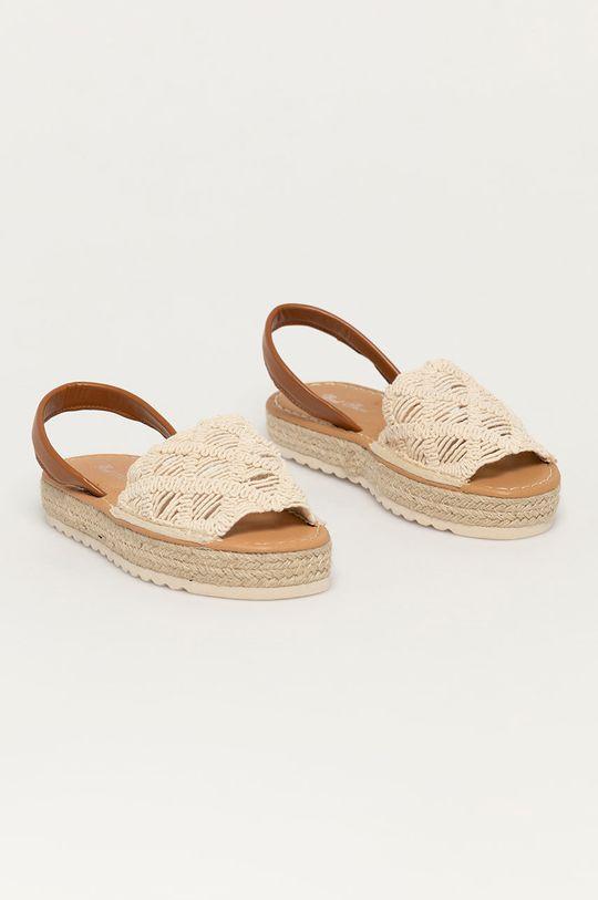 Answear Lab - Sandały Best Shoes beżowy