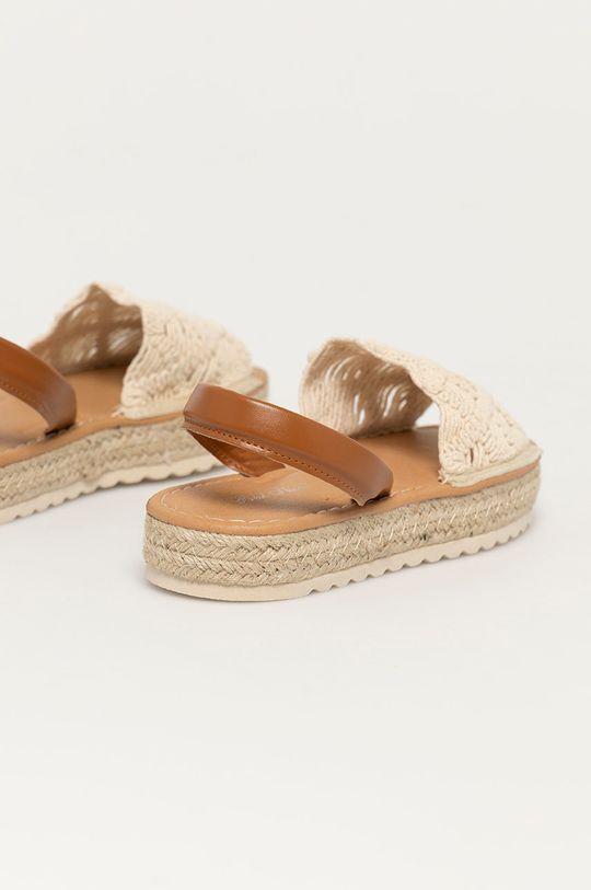 Answear Lab - Sandały Best Shoes Cholewka: Materiał syntetyczny, Materiał tekstylny, Wnętrze: Materiał syntetyczny, Materiał tekstylny, Podeszwa: Materiał syntetyczny
