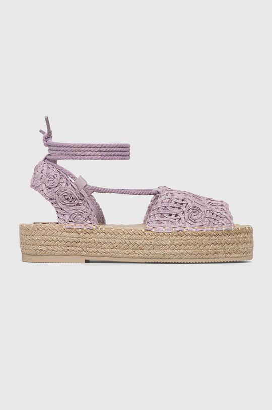 levanduľová Answear Lab - Sandále Best Shoes Dámsky