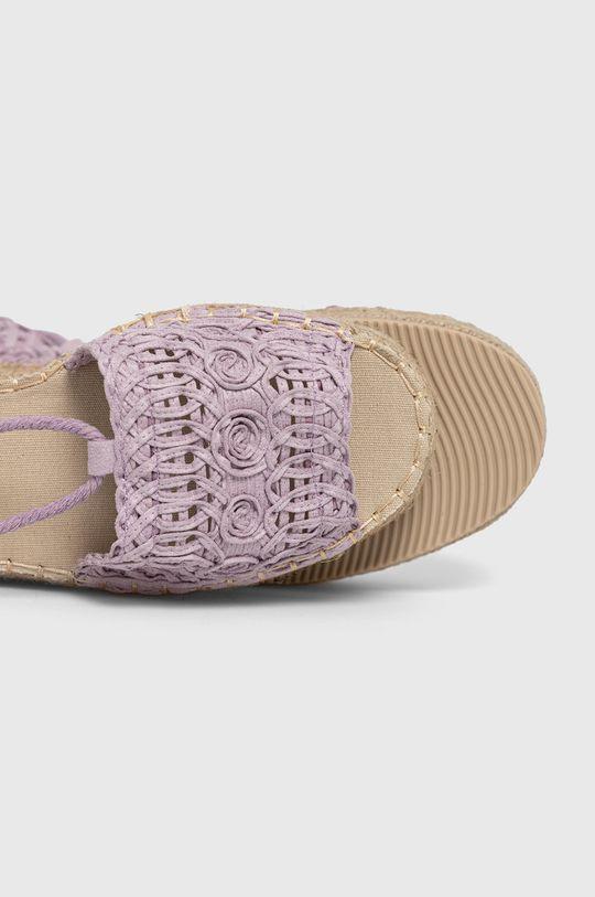 levanduľová Answear Lab - Sandále Best Shoes