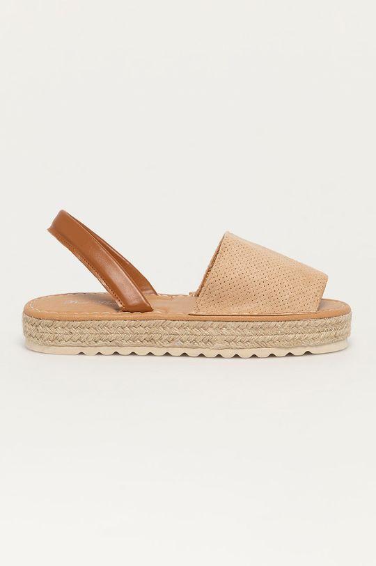 béžová Answear Lab - Sandály Best Shoes Dámský