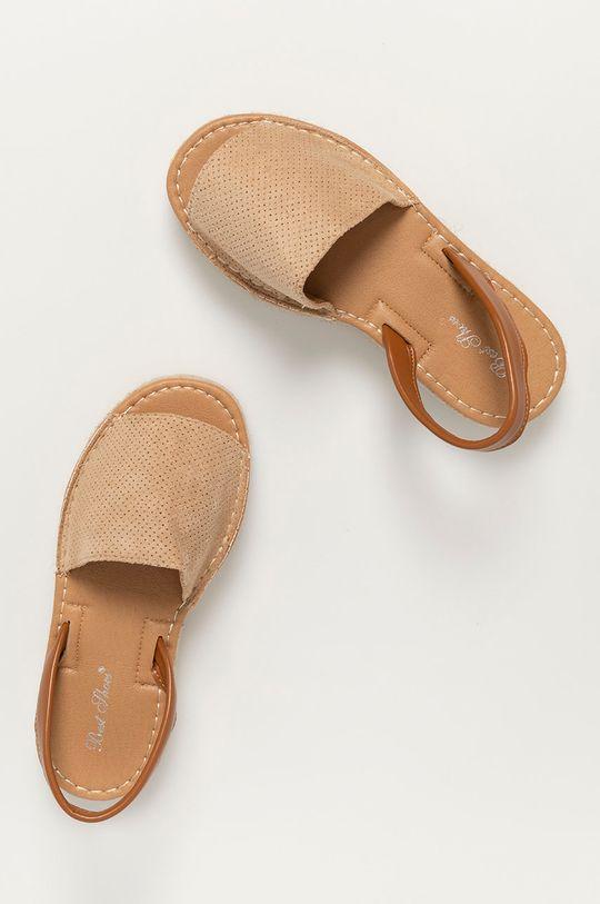 béžová Answear Lab - Sandály Best Shoes