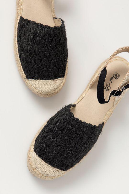 čierna Answear Lab - Espadrilky Best Shoes