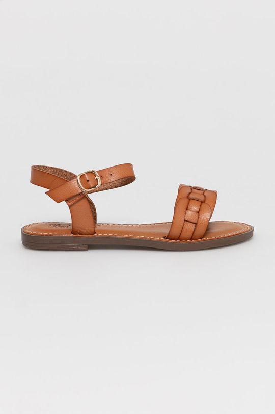 zlatohnedá Answear Lab - Sandále Best Shoes Dámsky