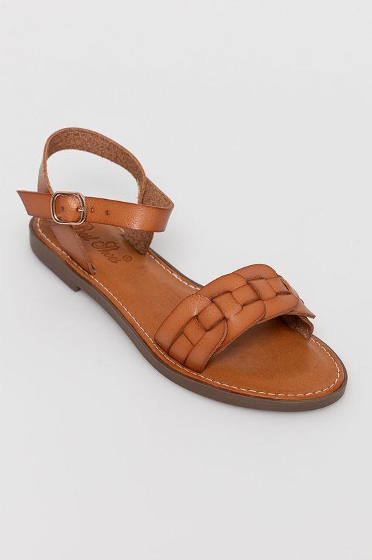 Answear Lab - Sandále Best Shoes zlatohnedá