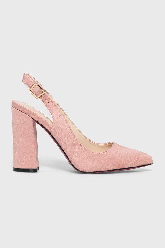 różowy Answear Lab - Czółenka Colour Cherie Damski