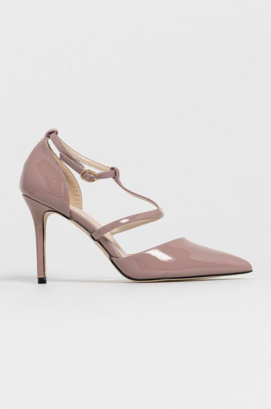 roz Answear Lab - Pantofi cu toc Colour Cherie De femei