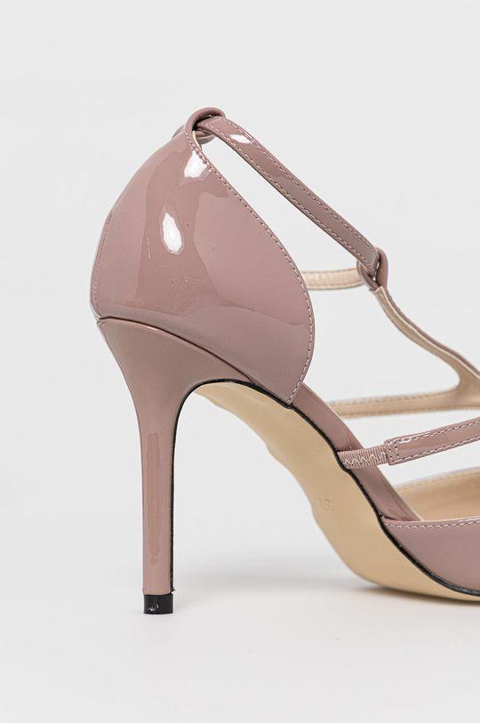 Answear Lab - Pantofi cu toc Colour Cherie  Gamba: Material sintetic Interiorul: Material sintetic Talpa: Material sintetic