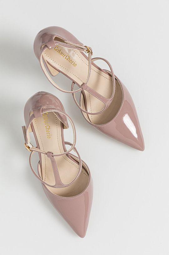roz Answear Lab - Pantofi cu toc Colour Cherie