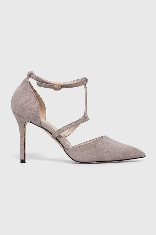 gri Answear Lab - Pantofi cu toc Colour Cherie De femei