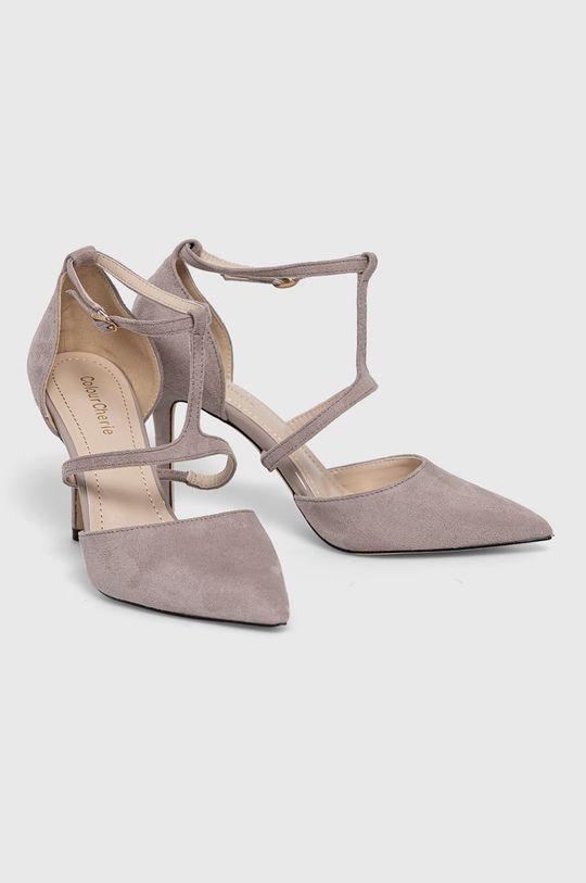 Answear Lab - Pantofi cu toc Colour Cherie gri