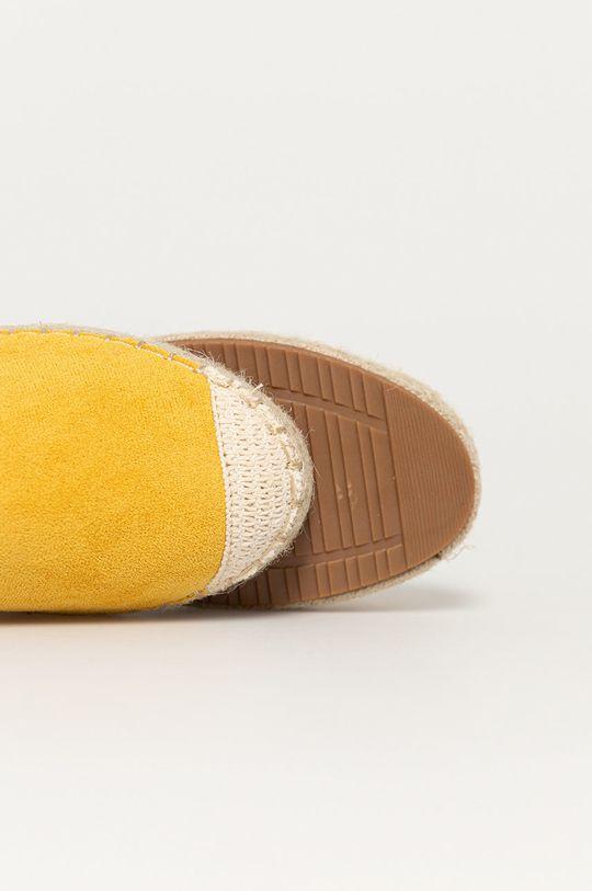 žlutá Answear Lab - Espadrilky Sun Color