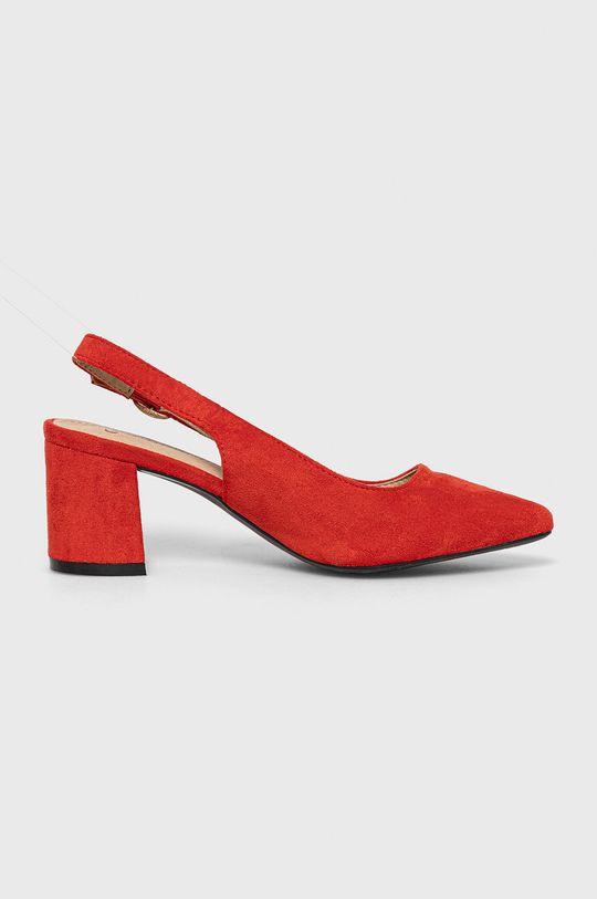 czerwony Answear Lab - Czółenka Sun Color Damski
