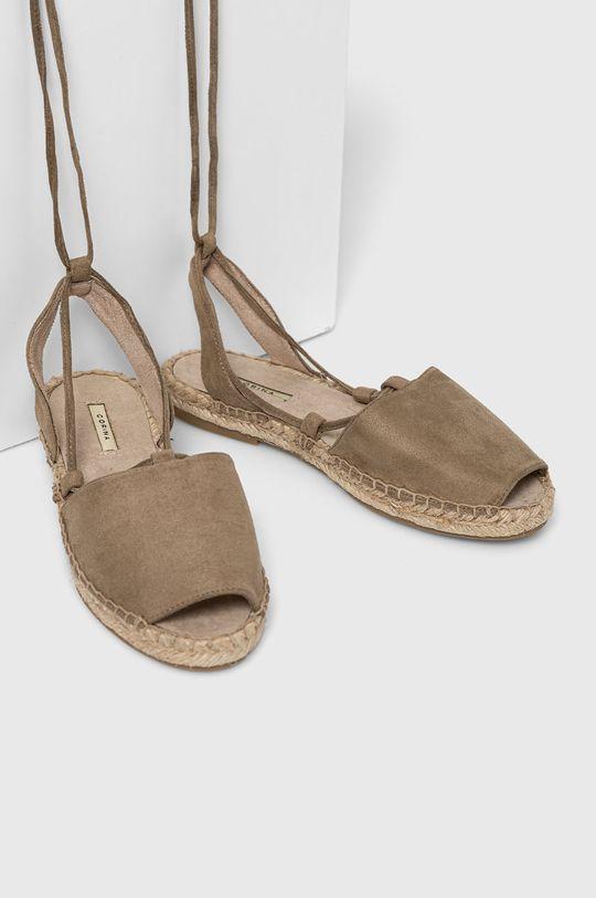 Answear Lab - Sandále zelená