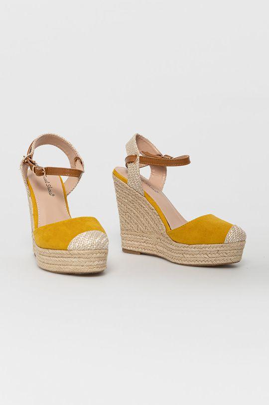 Answear Lab - Espadrilky Sweet Shoes žlutá