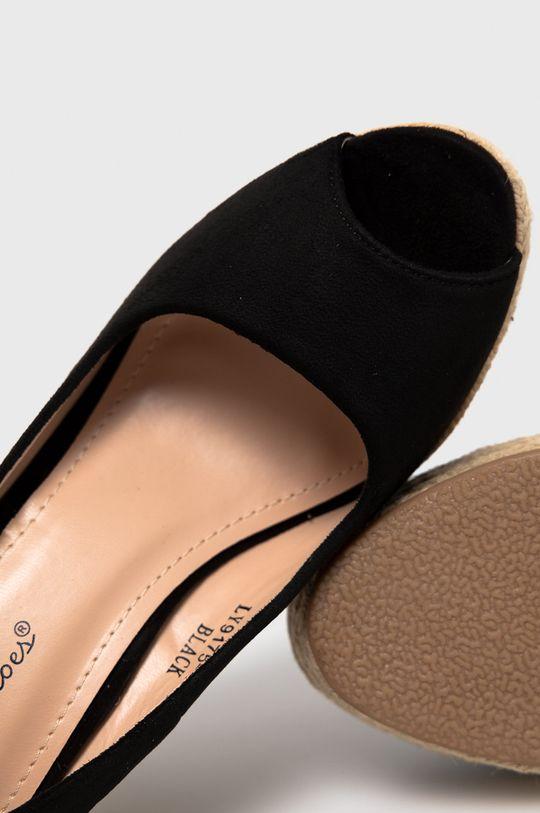 čierna Answear Lab - Espadrilky Sweet Shoes