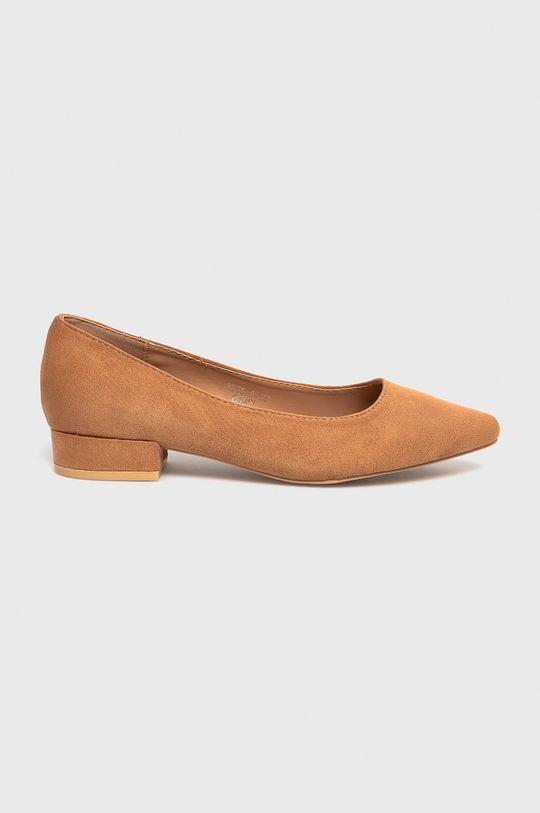 złoty brąz Answear Lab - Baleriny Sweet Shoes Damski