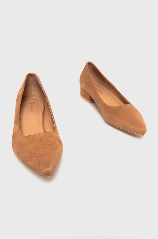 Answear Lab - Baleriny Sweet Shoes złoty brąz