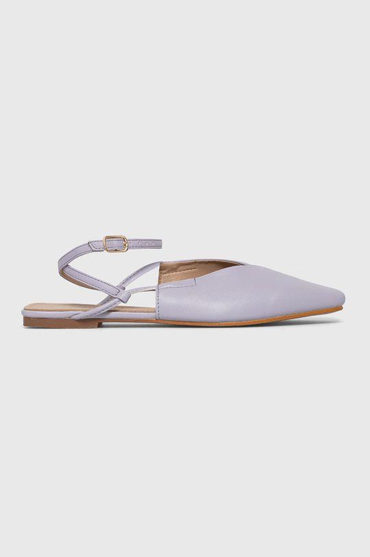 lawendowy Answear Lab - Baleriny Sweet Shoes Damski
