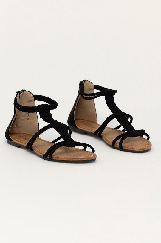 Answear Lab - Sandály Bottine černá