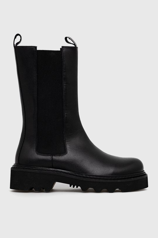 čierna Answear Lab - Kožené topánky Chelsea Dámsky