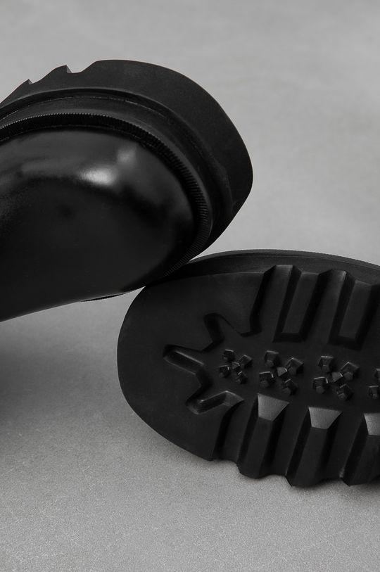 czarny Answear Lab - Sztyblety skórzane