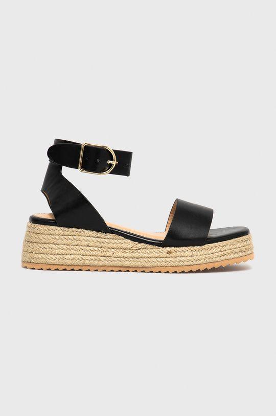 černá Answear Lab - Sandály Woman Key Dámský