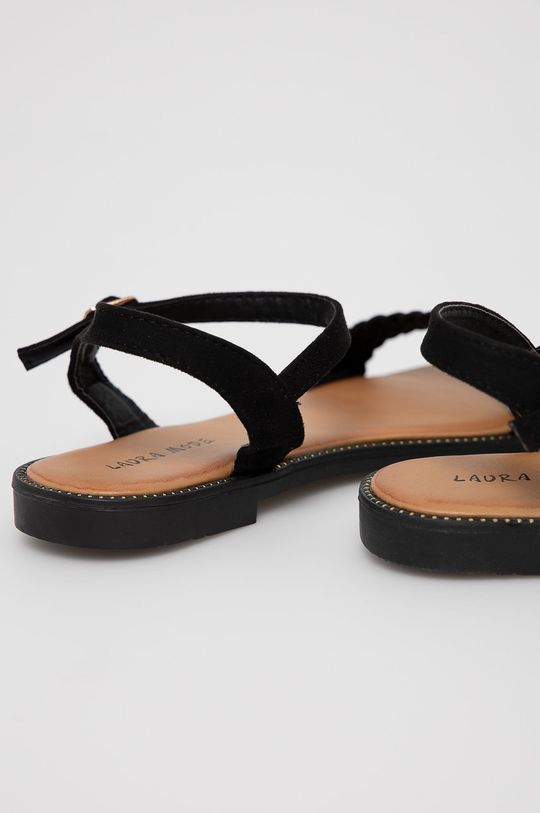 Answear Lab - Sandale Laura Mode  Gamba: Material textil Interiorul: Material sintetic, Material textil Talpa: Material sintetic