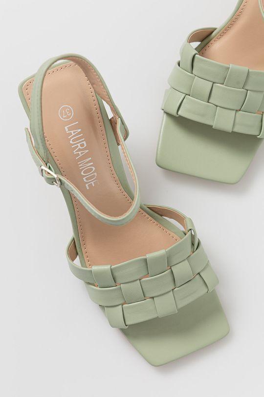 miętowy Answear Lab - Sandały Laura Mode
